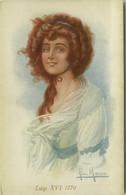 SAN MARCO SIGNED 1910s POSTCARD - GLAMOUR LADY - LUIGI XVI 1770 - N.2108-2 (BG1341) - Tuck, Raphael
