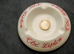 Ancien Cendrier Du Thé LIPTON Porcelaine Fabrication Moulin Des Loups - Ashtrays