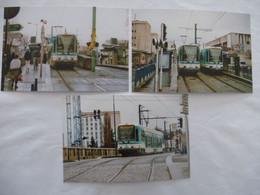 SAINT-DENIS (93) : TRAMWAY T1 Terminus à NOISY-le-SEC - LOT De 3 CPM En 2004 - Tramways