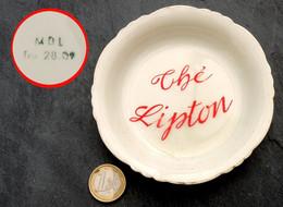 Ancien Cendrier Coupelle Ronde Du Thé LIPTON Porcelaine Fabrication M D L - Ashtrays