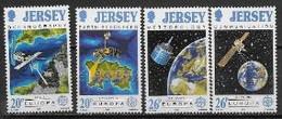 Jersey 1991 N° 533/536 Europa L'Europe Et L'espace - 1991