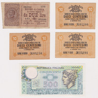 ITALY, Lot Of 5 Banknotes - Other