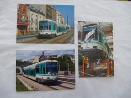 SEINE SAINT-DENIS (93) : TRAMWAY T1 NOISY-le-SEC Et Dépôt RATP BOBIGNY - T2 à SURESNES - LOT De 3 CPM En 1998 Et 2009 - Tramways