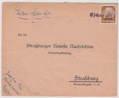 S823 - ESCHAU (Els) - 1940 - Griffe Caoutchouc Provisoire - Gummistempel - - Alsace Lorraine