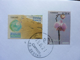 2002 / 2017    2 Stamps  Used On A Letter - 2001-10 Gebraucht