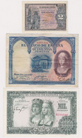 SPAIN, Lot Of 3 Banknotes - Other