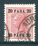 Austrian Levant 1903-07 Surcharges - 20pa Carmine Used (SG 56) - Used Stamps