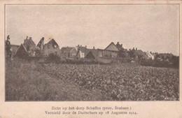Schaffen-Zicht Op Het Dorp-Vernield Door De Duitschers. - Unclassified
