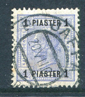Austrian Levant 1903-07 Surcharges - 1pi Blue Used (SG 58) - Used Stamps