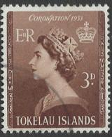 Tokelau Islands. 1953 QEII Coronation. 3d Used. SG 4 - Tokelau