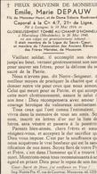 ABL, Depauw , Emile , Marie , Caporal à La Cie 4/7 , 21 De Ligne , Né à Nuingne - Obituary Notices