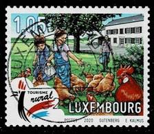 Luxemburg 2020,Mi.# 2233 O Children Feeding Chickens - Gebruikt