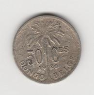 CONGO BELGE - 50 CENTIMES ALBERT 1ER 1926 - 1910-1934: Albert I