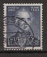 Bundespost 1953 MiNr.166  J. Von Liebig - Chemiker - Gestempeld/ Canceled. - Usati