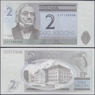 ESTONIA - 2 Krooni 2007 P# 85b Europe Banknote - Edelweiss Coins - Estonia