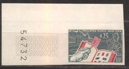 Superbe Coin De Feuille Philatec YT 1403 De 1964 Sans Trace De Charnière - Imperforates
