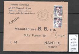 Reunion - Lettre SAINT GILLES LES HAUTS - 1969 + Autographe DECARIS - Storia Postale