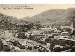 ESPORLAS VISTA GENERALE OLD B/W POSTCARD MAJORCA VINTAGE MALLORCA - Mallorca