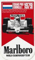 Marlboro Zandvoort 1979 World Championship Team Grand Prix Formule 1 Vintage Sticker, Aufkleber, Autocollant - Adesivi
