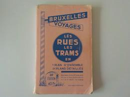1958 Bruxelles Voyages Les Rues Et Les Trams En 1 Plan D'ensemble + 84 Plans Détaillés + Plan Expo Universelle 1958 - Brussels (City)