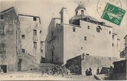 20 - CALVI L'Eglise Saint-Jean Animée écrite Timbrée - Calvi