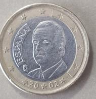 2002  - SPAGNA - MONETA IN EURO  - DEL VALORE DI 1,00  EURO  - USATA - Spanien