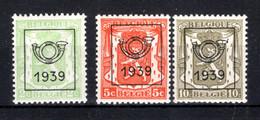 PRE417/419 MNH** 1939 - Klein Staatswapen Opdruk Type C - REEKS 15 - Typografisch 1936-51 (Klein Staatswapen)