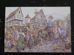 ALSACE LE FOLKLORE ALSACIEN LES VENDANGES - Alsace