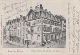 CPA - ZABERN - SAVERNE (BAS-RHIN) - HOTEL ZUR SONNE - CARTE GRUSS - Saverne