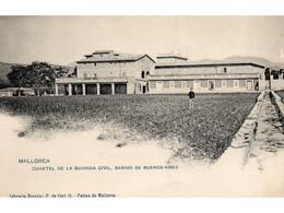 MAJORCA CUARTEL DE LA GUARDIA CIVIL BARRIO DE BUENOS AIRES OLD B/W POSTCARD MAJORCA VINTAGE MALLORCA - Mallorca