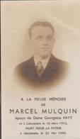 ABL , MARCEL MULQUIN , Né à Labuissière Le 16 Mars 1912 Mort Pour La Patrie à Meulebeke Le 25 Mai 1940 - Obituary Notices