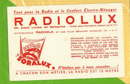 BUVARD & Blotting Paper :   La Radio Electro Lux RADIOLUX Distributeur RADIOLA - Electricity & Gas