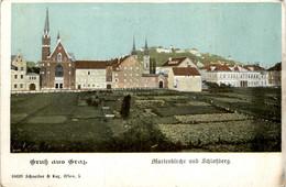 Graz/Steiermark Und Umgebung -   Marienkirche Und Schlossberg - Graz