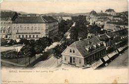 Graz/Steiermark Und Umgebung -     Bismarckplatz Und Karl Ludwig Ring - Graz