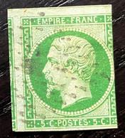 AFR60 - France N° 12 5c Vert - Oblitéré/cancelled - 1853-1860 Napoleon III