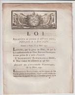 1791, Loi Relative Au Paiement De Différentes Sommes Faisant Partie De La Dette Exigible - Gesetze & Erlasse