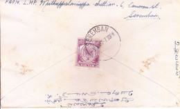 MALAYA SEREMBAN : USED COVER : YEAR 1957 : POSTED FROM SERAMBAN FOR INDIA : USE OF 10 CENTSTAMPS - Negri Sembilan