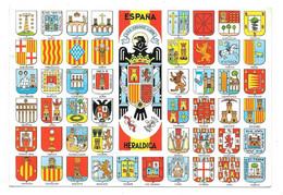 ESPAÑA - HERALDICA - Escudos De Sus Provincias - Avec Coquilles Dans Le Blason De LA CORUÑA - Unclassified