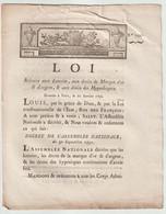 1792, Loi Relative Aux Loteries, Aux Droits De Marque D'or Et D'argent Et Aux Droits Des Hypothèques - Gesetze & Erlasse