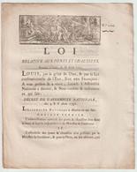 1791, Loi Relative Aux Ponts Et Chaussées - Gesetze & Erlasse