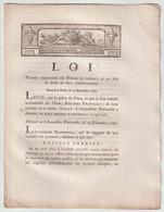 1790, Loi Portant Suppression Des Brevets De Retenue Et Qui Fixe Le Mode De Leur Remboursement - Gesetze & Erlasse