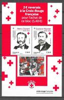Bloc Feuillet : Croix Rouge Française 2020 : Henry Dunant - Gustave Moynier. (Voir Commentaires) - Nuovi