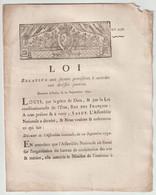 1791, Loi Relative Aux Secours Provisoires à Accorder Aux Artistes Pauvres - Gesetze & Erlasse