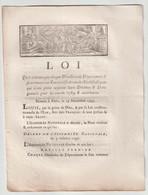 1790, Loi Qui Ordonne Que ...fera Remettre Un état Certifié De Tous Les  Ecclésiastiques... - Gesetze & Erlasse