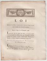 1790, Loi Relative à La Dette Constituée Du Ci-devant Clergé... - Gesetze & Erlasse