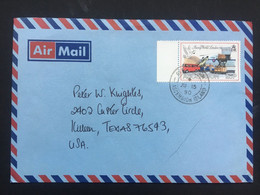 ASCENSION 1990 Air Mail Cover To Killeen Texas - Ascension