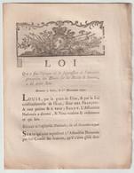 1790, Loi Qui Fixe L'époque Où La Suppression De L'ancienne Perception Des Droits Sur Les Huiles Et Savons.... - Gesetze & Erlasse