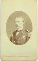 Photo CDV. Vice-Amiral, François De Casembroot. Liège 1817/Den Haag 1895. Foto Verveer, La Haye. - Oud (voor 1900)