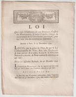1790, Loi Qui Règle L'émoluement Dû Aux Receveurs... - Gesetze & Erlasse