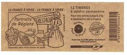 LAMOUCHE CARNET LA FRANCE A VIVRE PORTRAITS DE REGIONS - Freimarke